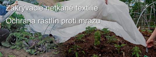 Zakrývacie textílie - Ochrana proti mrazu